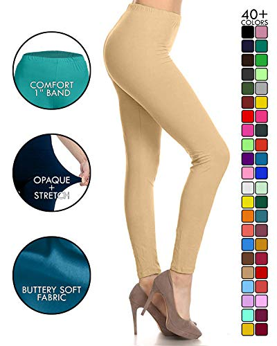Leggings Depot Ultra Soft Basic Solid Plain Best