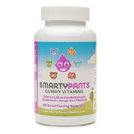 SmartyPants Детская All-In-One Мультивитаминный Plus Омега-3 и витамином D 120 Gummies (комплект из 2)