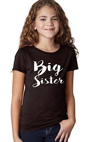 TSHIRTGUY Big Sister t-Shirt For Kids Big Sister Shirt Big Sister Gifts (Medium 10/12 yrs, Black) Big Sister Youth T-shirt