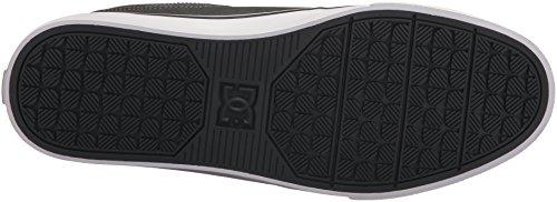 DC Men's Heathrow Vulc Se Skate Shoe, Black Black Dk Grey, 8D Dark Shadow