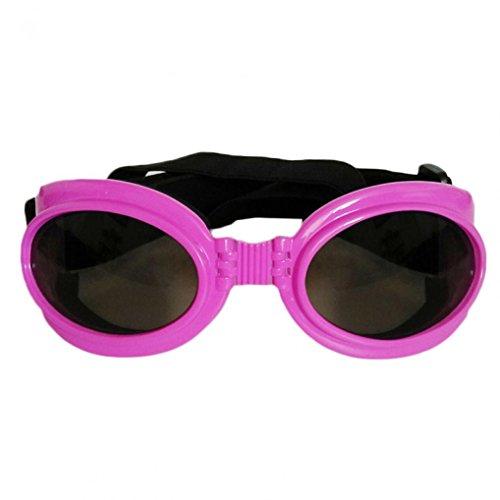 WODISON Foldable Dog Goggles UV Protection Puppy Sunglasses Big Dog Eyewear Glasses With Adjustable - Store Eyewear