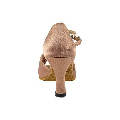 """Gold Taube Schuhe 50 Shades Of Tan Tanzkleid Schuhe Collection-III, Komfort Abend Hochzeit Pumps: Ballroom Schuhe für Latein, Tango, Salsa, Swing, Kunst von Party Party (2,5 """", 3"""", 3,5 """"Heels) 2709 Brauner Satin"""