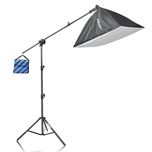 Flash Twin Softbox Kit (Emart 525W Photography Light Photo Video Studio Softboxes Continuous Lighting Kit include 24 x 24