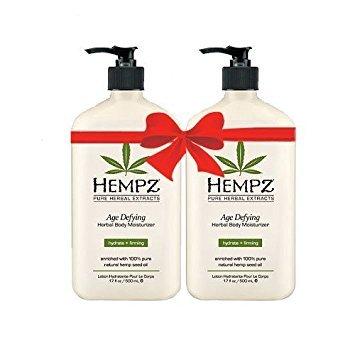 Hempz Age Defying Herbal Body Moisturizer 17 oz 2-Pack by Hempz