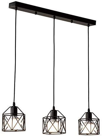 Nordic loft retro Iron cage Pendant lamp, Minimalist Creative Personality American Country Pendant Lights, Industrial vintage Lamp, Caf Chandelier, Suitable for Kitchen Bedroom Living room Restaurant