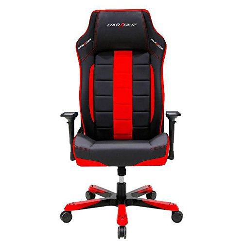 DXRacer OH BF120 NR Black Red Boss Series Gaming Chair Ergonomic High Backrest Office Computer Chair Esports Chair Swivel Tilt and Recline with Headrest and Lumbar Cushion Warranty