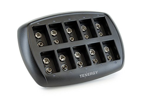 Tenergy TN295 10-Bay 9V Li-ion Battery Charger