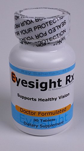 Eyesight Rx – An All Natural Herbal Eye Supplement for Eyesight Improvement and Vision Support and w/ Lutein, Zeaxanthin, Eyebright, Bilberry, Mucuna, and Beta Cerotene – 30 Vitamin Tablets – Developed by Dr. Ray Sahelian, M.D.