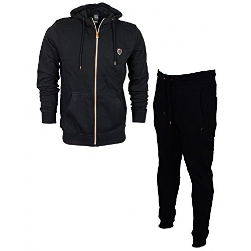 883 Police Maira Zip Hooded Slim Fit Black Tracksuit L Black by 883 Police