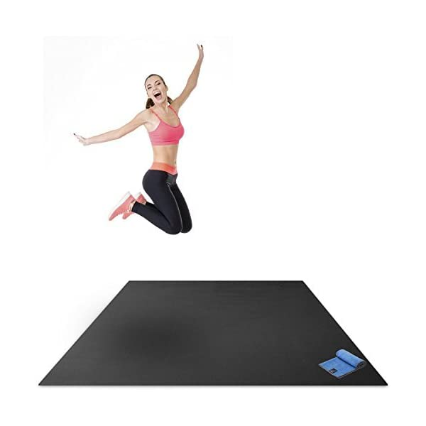Premium Large Exercise Mat 6 X 4 X 1 4 Ultra Durable Non