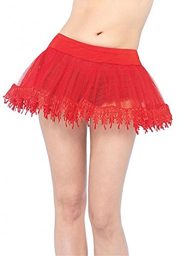 Red Teardrop Petticoat (8999S (Red) Teardrop Lace Petticoat)