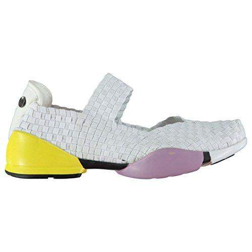 Bernie Mev Charm Damen Sandalen Geflochten Leicht Schuhe Weiß 3