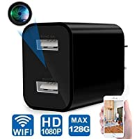 Spy Camera - WiFi Hidden Camera - USB Charger Camera with Remote Viewing & Motion Detection, HD 1080P Nanny Cam/Security Camera for Home Office, Support iOS/Android, No Audio