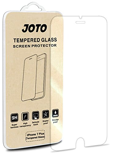 JOTO iPhone 8 Plus / 7 Plus Tempered Glass Screen Protector, Tempered Glass Screen Film Guard Rounded Edge Real Glass Screen Protector for Apple 5.5 Inch iPhone 8 Plus/iPhone 7 Plus (1 Pack)