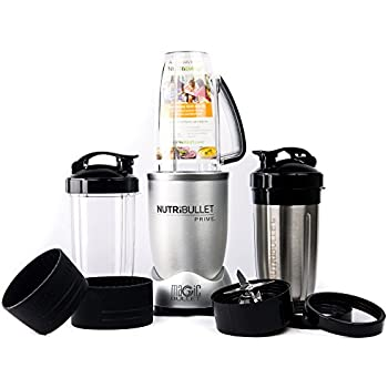 NutriBullet PRIME 12-Piece High-Speed Blender/Mixer System include Stainless Steel Cup, Silver
