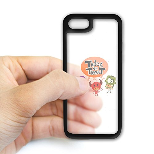 iPhone 5C Case Black and Clear Halloween Trick or Treat Kids - Candy Apple Costumes Phone Number