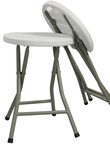 Amazon.com Heavy Duty - Light Weight - Metal and White Plastic Folding Stool - 400lb Capacity - Exclusively by Blowout Bedding RN# 142035 Kitchen u0026 Dining  sc 1 st  Amazon.com & Amazon.com: Heavy Duty - Light Weight - Metal and White Plastic ... islam-shia.org