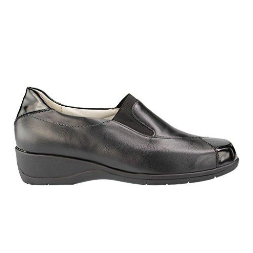 WALDLÄUFER - Herta - Damen Slipper - Schwarz XXL Schuhe in Übergrößen , Farben:Schwarz;Größe:40.5;Weite:H