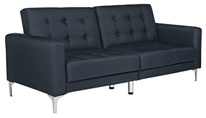 Safavieh Livingston Collection LVS2000C Soho Navy Blue Tufted Foldable Sofa  Bed