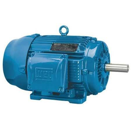 WEG 00318ET3E182T-W22 W22 NEMA Premium Efficiency Ball Bearing Severe Duty and General Purpose Electric Motor, 3 HP, 3-Phase, 1760 rpm, 208-230/460 V, 60 Hz, Frame 182/4T by WEG