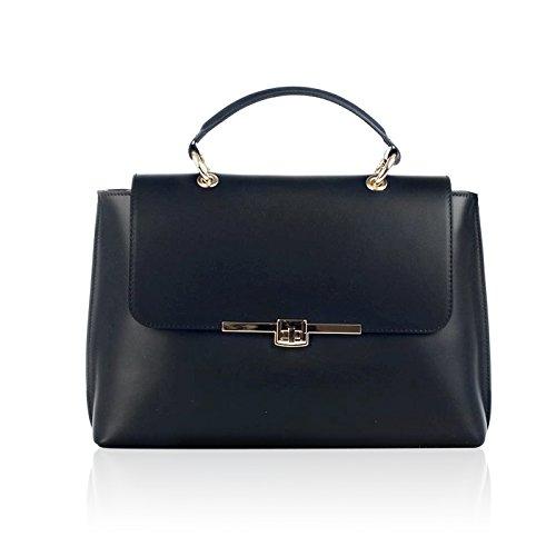 Piel Otra 71067 Para Asas De Mujer myitalianbag Negro Bolso w7pfqaT