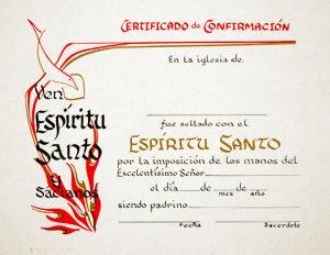 certificado confirmacion espiritu santo 6 pack