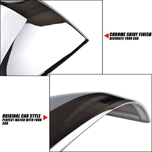Door Side Rear View Mirror Chrome Trim Cover For Jeep Grand Cherokee 2011-2017