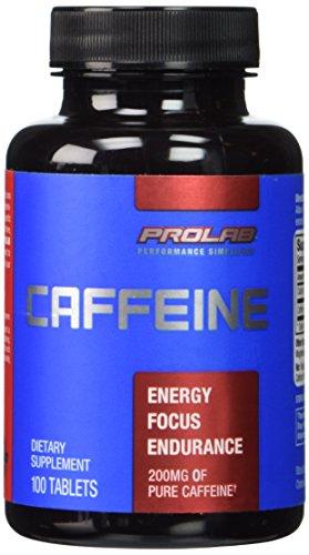 Prolab Caffeine- Maximum Potency 200 mg 100 Tablets (Pack of 2)
