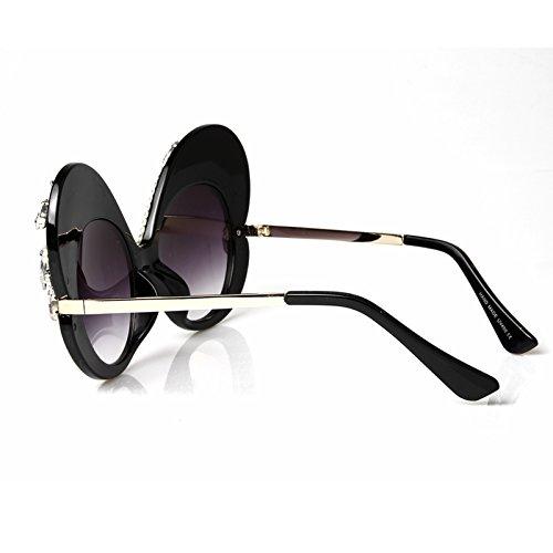 Crystal sombras sol el unas TL Sunglasses Butterfly sol de para Gafas gafas de enormes mujer Señor w4wqZfYt
