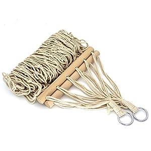Felenny Hamaca de Cuerda de algodón con Bolsa de Almacenamiento para Picnic de Pesca