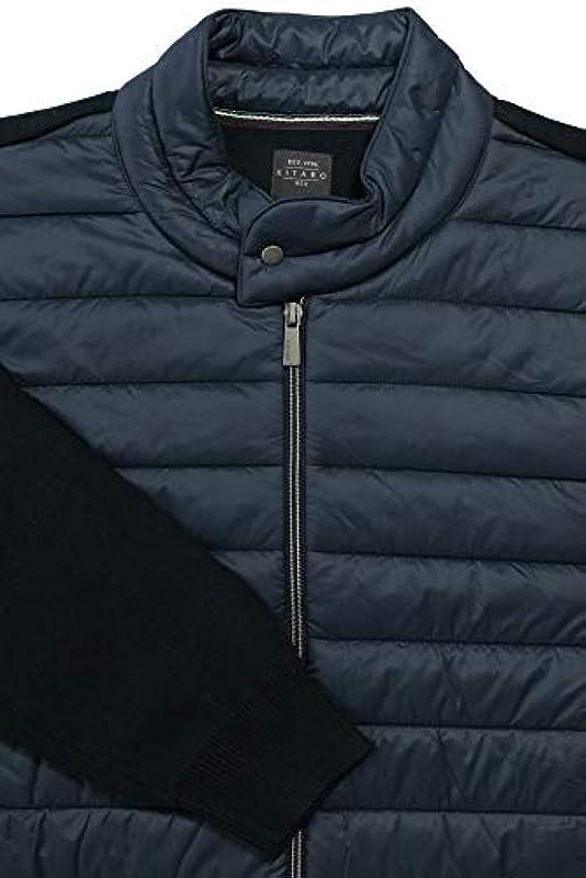 Kitaro kurtka z dzianiny Cardigan pikowana kurtka męska ekstra długa - watowana kurtka: Odzież