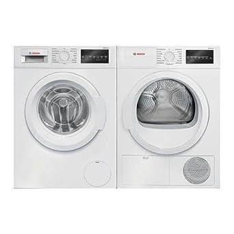 Par de lavandería de carga frontal blanca con lavadora WAT28400UC ...