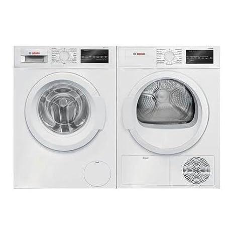 Amazon.com: Par de lavandería de carga frontal blanca con ...