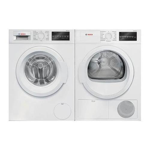 White Front Load Laundry Pair with WAT28400UC 24 Washer and WTG86400UC 24 Electric Dryer ()