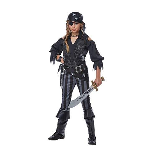 Crossbone Pirate Belt Buckle - Miss Rebel Pirate Child Costume California Costume