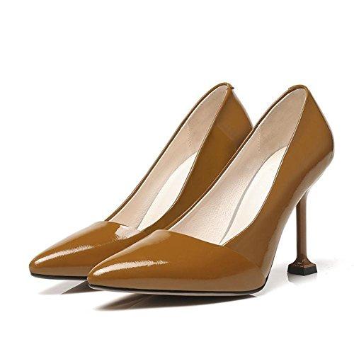 Dimensione Tacchi Nvxie Piede Festa Brown Caviglia Appuntito uk Pompe Alto Vestito 9 Eur 43 35 Moda Dito 45 Del Stiletto eur35uk3 Tribunale Nero Donna Grande Scarpe vqfxFTv