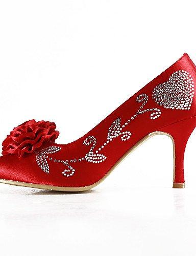 Negro Noche 4in Boda Rojo Rosa de 3 Tacones Amarillo 3in 3 y Zapatos boda Vestido ZQ 4in red Redonda 3in Punta purple Tacones Blanco Morado Azul 3 Fiesta 3 xP0w7TnqB