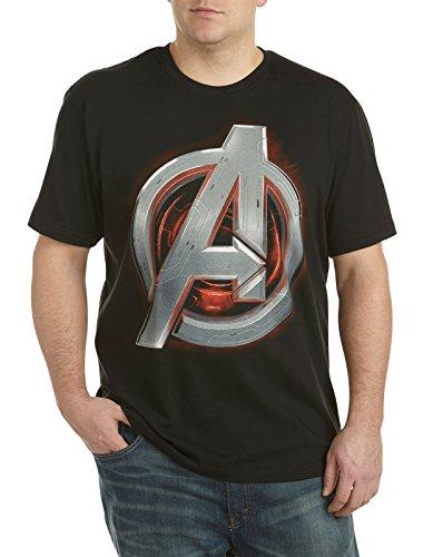 Marvel Comics Avengers Ultron A Big & Tall Short Sleeve Screen T-Shirt (5XL, Black)