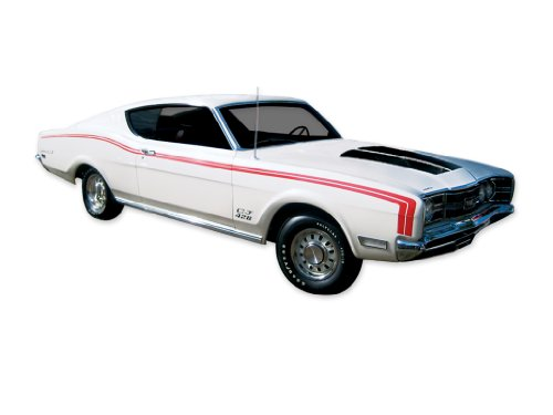 MERCURY 1969 Cyclone Spoiler Decals & Stripes Kit - RED