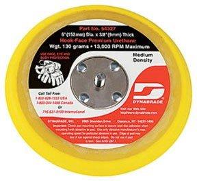 Dynabrade 54327 6-Inch Diameter Hook-Face Short Nap 3/8-Inch Thick Urethane Medium Density 5/16-Inch-24 Male Thread Non-Vacuum Disc Pad, Orange
