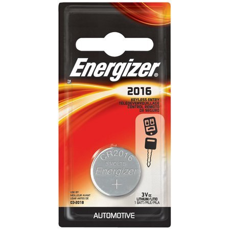 Energizer CR2016 Lithium Battery, Card of 5ORMD