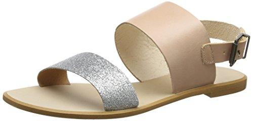 L Argent Bout silver Shoe Flora Bear Sandales Ouvert Femme The HqHT8wt