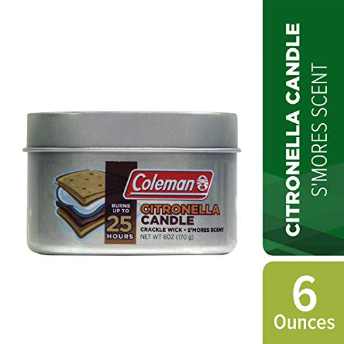 Coleman Campfire Scented Citronella Candle with Wooden Crackle Wick - 6 oz Tin