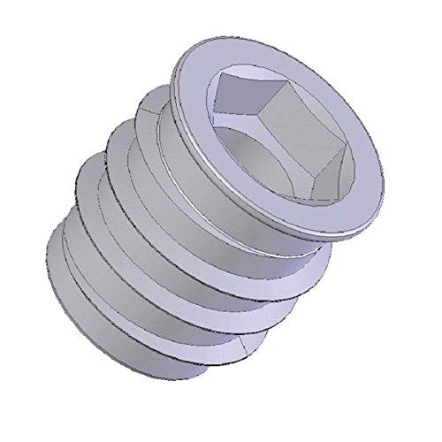 RONIN FURNITURE FITTINGS® 100 Stück Einschraubmuffe, Einschraubmutter ohne'Kragen' - 15 mm - M8 Innengewinde - verzinkt Einschraubmutter ohneKragen - 15 mm - M8 Innengewinde - verzinkt