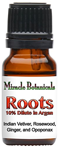 Miracle Botanicals Roots Annointing Oil - 10% Essential Oil Root Chakra Synergy Blend in a Golden Argan Oil Base 10ml