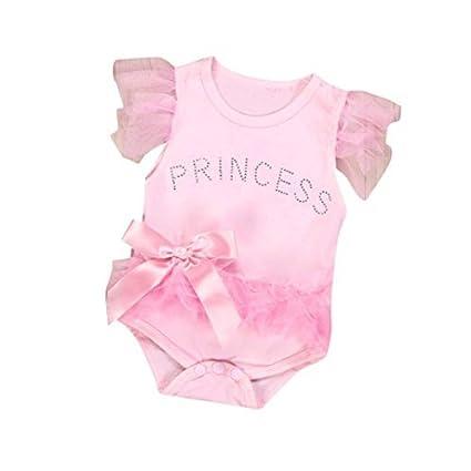 lsv-8 recién nacido bebé niña ropa bowknot encaje princesa Pelele Mono Body de ropa