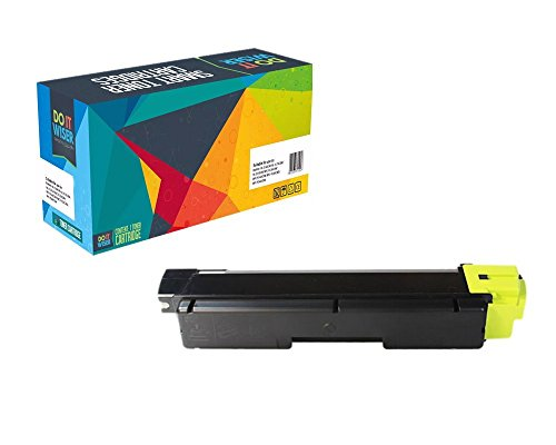 Do it Wiser Compatible Toner Cartridge Replacement for Kyocera Ecosys FS-C5250DN FS-C2126MFP FS-C2026MFP FS-C2626MFP FS-C2526MFP Yellow