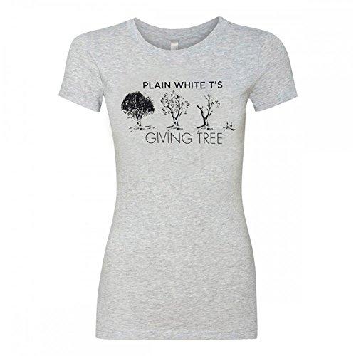 Plain White Ts Giving Tree Girls Jr X-Large Heather