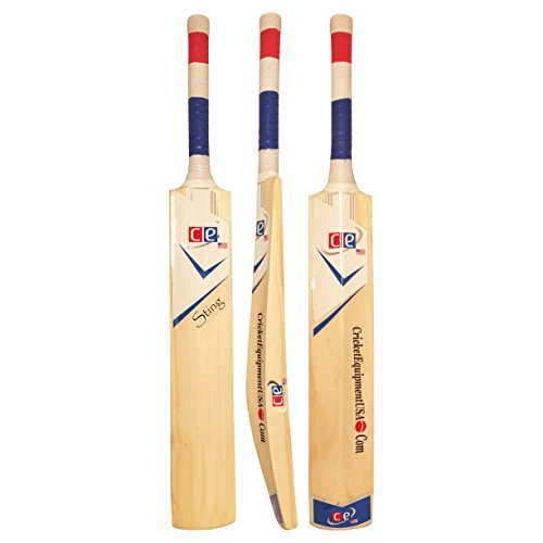 Cricket Bat Sting By Cricket Equipment USA - Short Handle - With Free Bat Cover - Weight 2 Lbs 9 Ozs by Cricket Equipment USA - CE