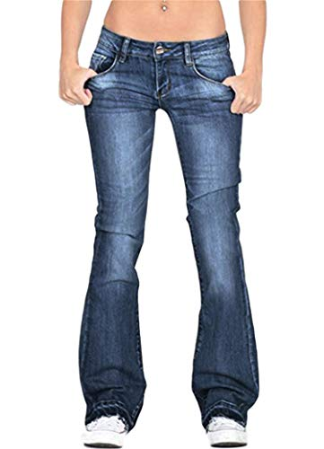 Soluo Clearance Womens High Waisted Bell Bottom Jeans Flare Stretchy Denim Pants